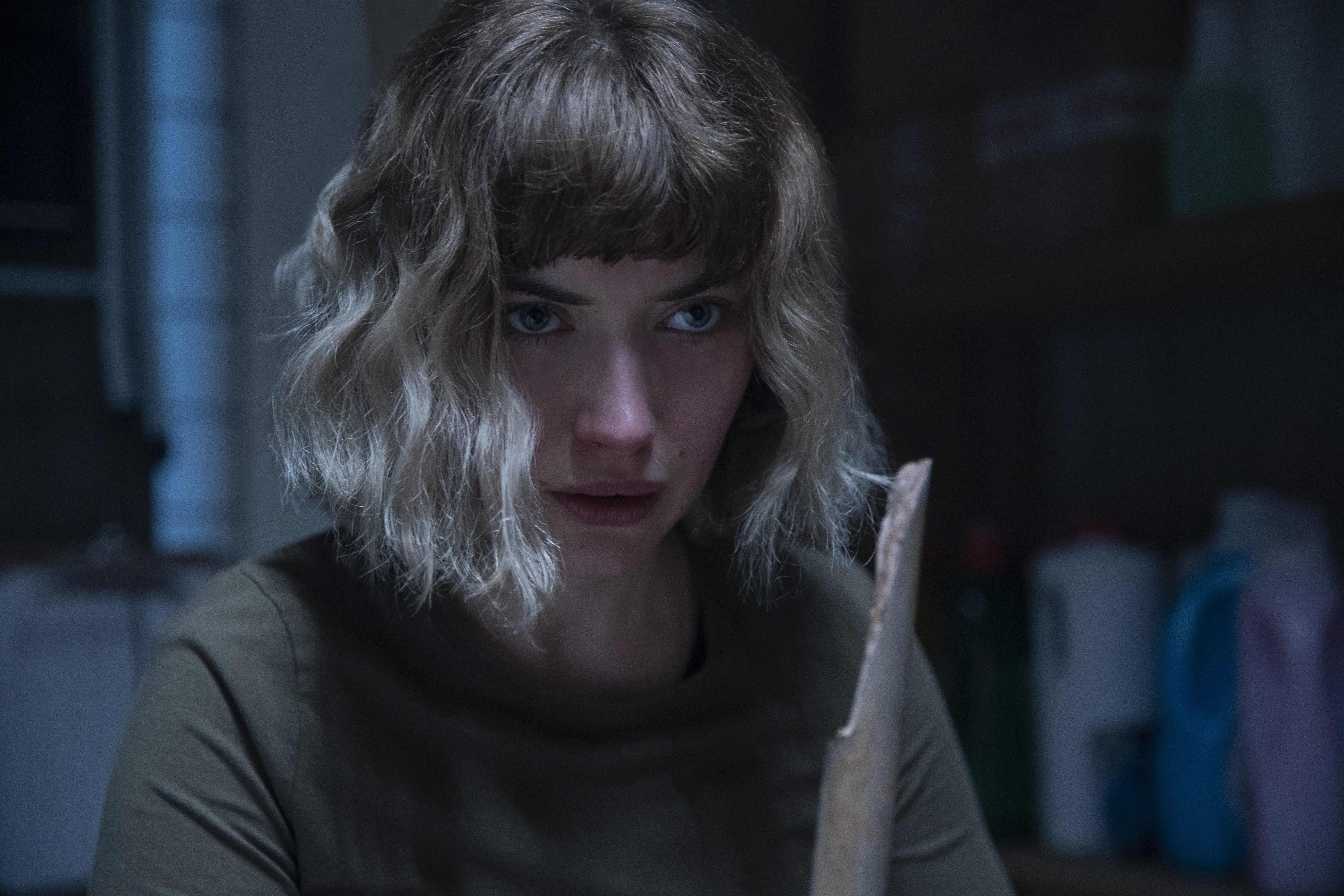 """Imogen Poots as Riley in """"Black Christmas,"""" co-written and directed by Sophia Takal."""